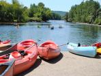Paddle down the Dordogne River and stop for a picnic or lunch or eat at the restaurants on the banks
