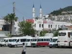 Bodrum bus stop and market place...