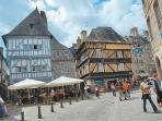 Medieval Dinan town - cobbled maze of history,boutiques & cafes overlooking the historic Port
