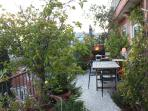 Garden-terrace with dining for up to 10 and bbq.