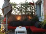 Comfy sofas at the terrace.