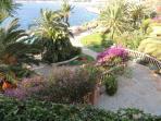 Steps through gardens to the sea