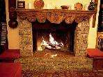 Chalet Le Yeti - fireplace