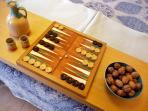 Maybe backgammon in bed?