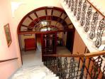 Residence Villa Elena. stairs inside the villa