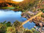 10 minutes walk to Cataract Gorge