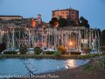 .....il lago di Bolsena e lo splendido borgo di Capodimonte....