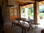 Open terrace in the summer