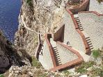 Panoramic stairways to reach Nettuno's Caves - 10 mins by car from the house