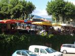 Wednesday and Sunday are market day