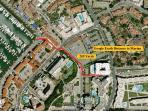 Google Earth '209 yards from the Waters edge at the Marina de Vilamoura'