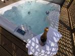 Relax in your private hot tub!