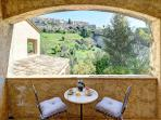 View of St. Paul de Vence from covered terrace