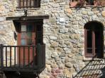 Can Cruanyes is a typical Catalan farmhouse with signature stone facade