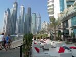 Al fresco dining at Dubai Marina