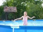 Pool in the summer