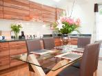 Large, sociable, kitchen dining room leading to the walled garden
