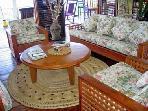 Villa lounge opens out to magnificient veranda (50ft x 15ft)