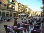 Restaurants in the main plaza of Los Alcazares. Lots of varieties to choose (10 mins from apartment)