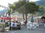 On the island 'La Botte' Cafe Bar is a gorgeous spot to enjoy refreshments