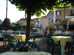 At Pro-Loco along from Piazza Matteotti enjoy time in the shade of plane trees with a refreshments