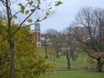 Queens Park with great picnic areas and kids payground