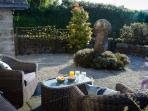 Front garden with evening sun