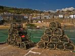 Lobsters in Mousehole, a 10 minute drive or 40 minute walk from your Studio