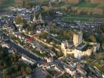 aerial Loches view and property location