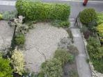 View of front garden from Upper window