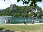 The Lake Bled promenade