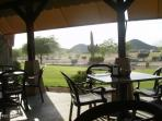 Dine at the Johnson Ranch TERRACE overlooking the San Tan Mountains & Golfers!
