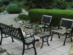 Seating under Mulberry Tree