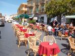 A selection of bars, inexpensive restaurants and fabulous ice-cream parlours in nearby Pizzo centre.
