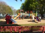 This ideal playground for infants and children is only 50 meters away