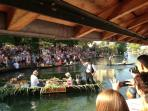 Local summer festival in L'Isle Sur La Sorgue