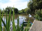 Deck and rowing Boat