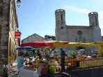 Market day in nearby Valence-sur-Baise
