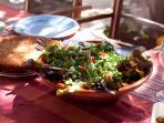 Quiche Lorraine & Spring Greek Salad