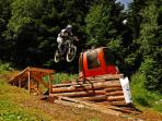 Borovets bike park in the summer