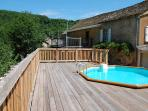 Rustic yet charming house all on one level in the French countryside - with pool and terrace.
