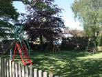 The children's play area directly opposite the cottage