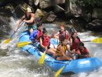 There are a variety of rafting options in the area.