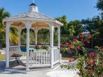 A peaceful Gazebo in the terraced gardens invites you to linger...