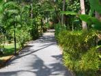 vue jardin du resort