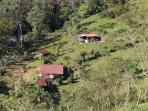 Finca Pura Vida: Ansicht Ferienhaus Casa Colibrí und Casa Tucán
