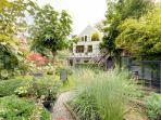 Backyard with henhouse