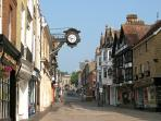 Winchester's medieval high street is car-free
