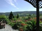 The Terrace at Fairsnape Cottage has wonderful views of Coniston Water & Grizedale Forest