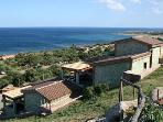 vista villaggio con mare- the view of the sea
